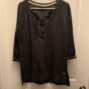 Victoria's Secret Dark gray 3/4 shirt